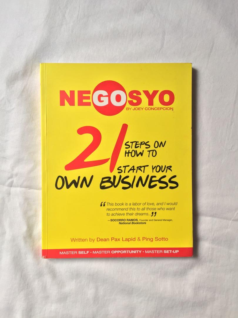 GO NEGOSYO: 21 Steps on How To Start Your Own Business - Joey Concepcion