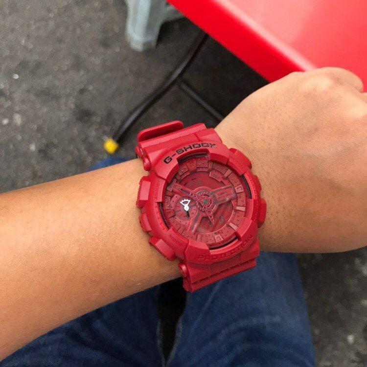 G-SHOCK GA-110 RED OUT 35TH ANNIVESARY AUTOLIGHT COPY 1:1 ORIGINAL EDITION