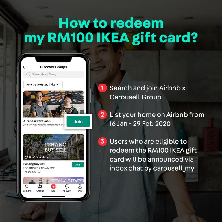 List and Redeem RM100 IKEA Gift Card!