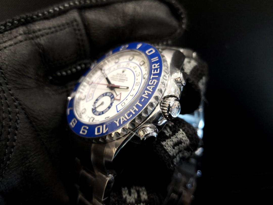 PREOWNED ROLEXYATCH-MASTER II, Regatta Chronograph 116680, Oystersteel , 44mm, Alphanumeric Series @ Year 2016 Mens Watch