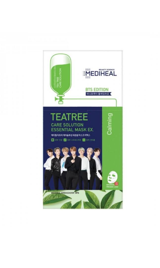 Ready Stock di Jakarta! Rp245.000  isi 8pcs / per BOX + Free Gift BTS Edition - Teatree Care Solution Essential Mask EX (Box) | nanti ku kirim pake box tambahan biar semakin aman ❤