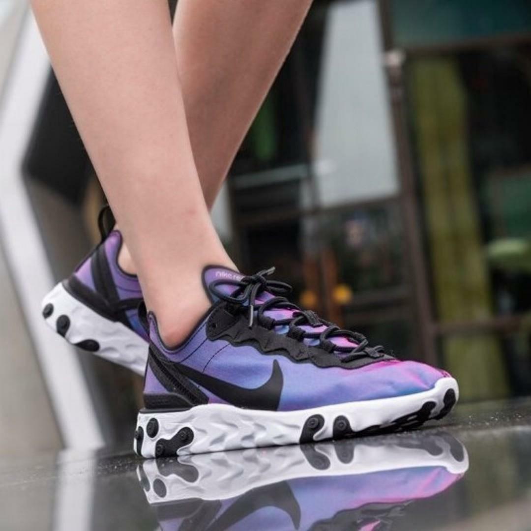 línea Mal Ocho  SALE!) Nike React Element 55 W PRM Purple, Women's Fashion, Shoes, Sneakers  on Carousell