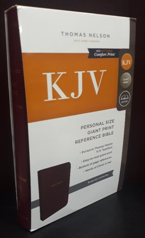 Thomas Nelson KJV Personal Size Giant Print Reference Bible (Burgundy Leathersoft)