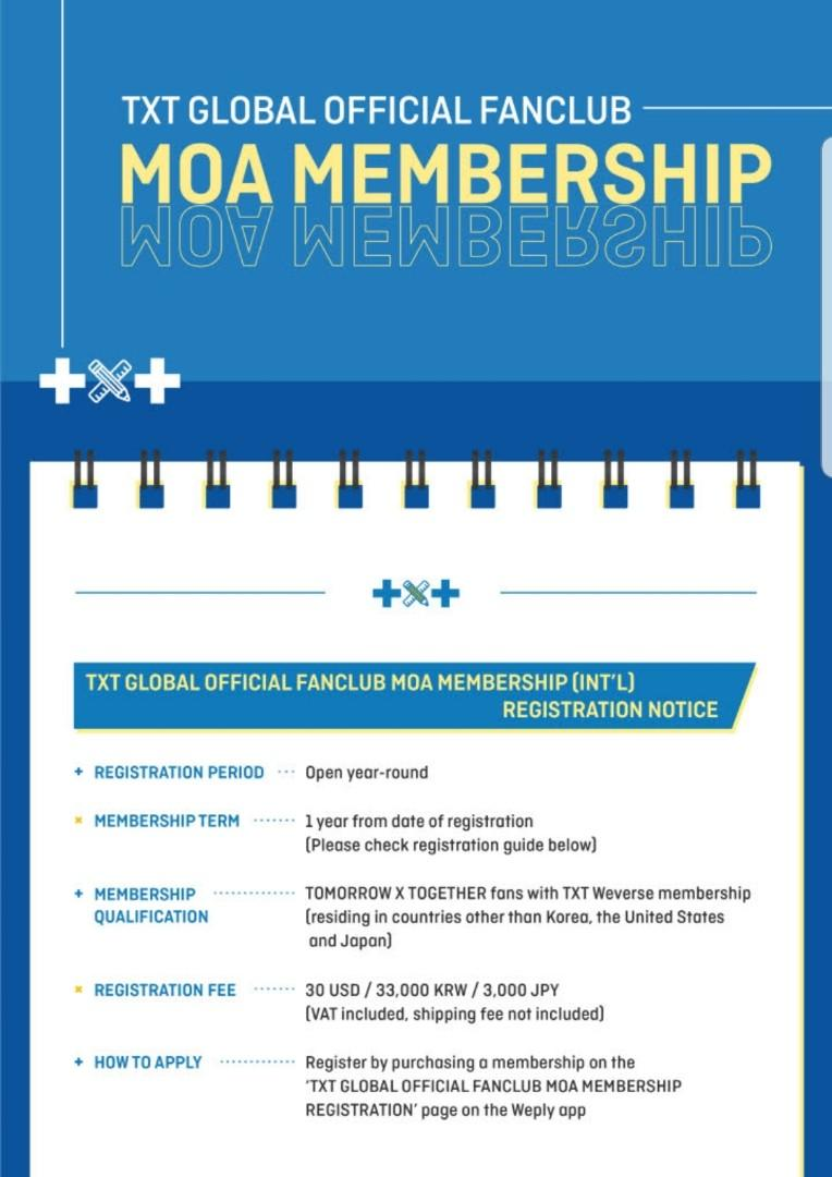 TXT OFFICIAL FANCLUB MEMBERSHIP PURCHASING SERVICE