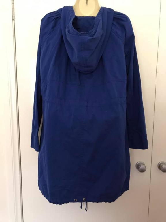 Vgc ASOS fits ladies size 12-14 royal blue double zip medium weight jacket