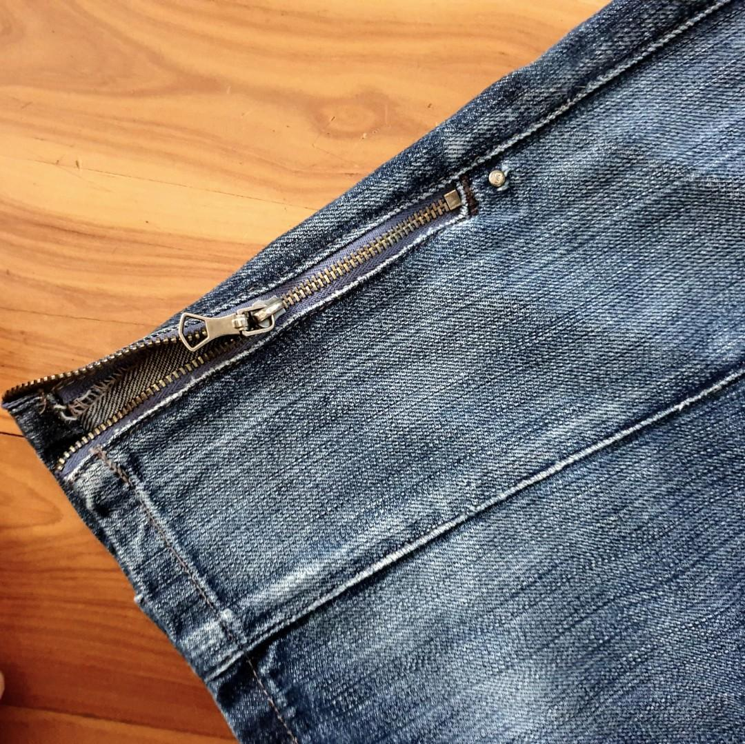 Women's size 36 'G-STAR RAW 3301' Gorgeous blue denim skirt with side zip - AS NEW