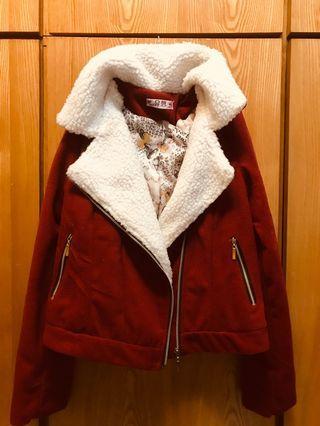 短版毛料外套