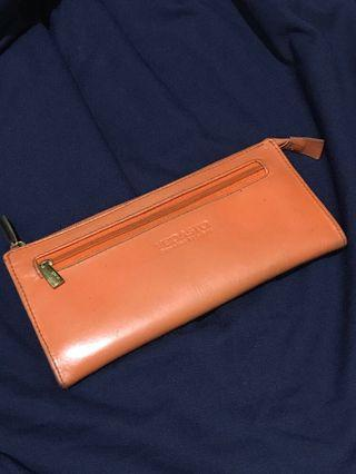 Vedasto Orange Long Wallet