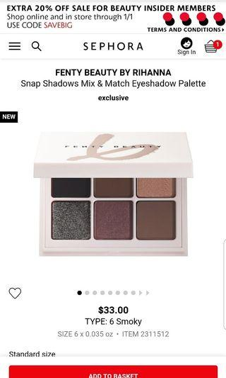 Fenty Beauty Snap Shadows Mix and Match Eyeshadow Palette