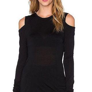 Black Shoulderless Sweater H&M