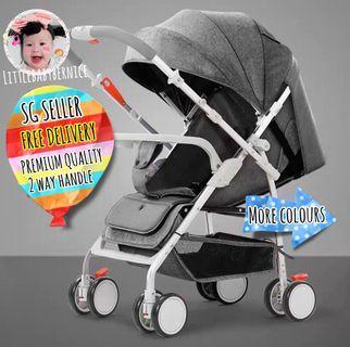 [INSTOCK]  [PROMO] 🩰 Premium Baby Stroller PLUS FREEBIES! - One hand foldable - 2 ways handle bar