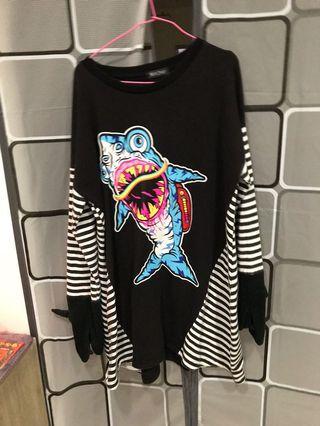 鯊魚造型長版洋裝