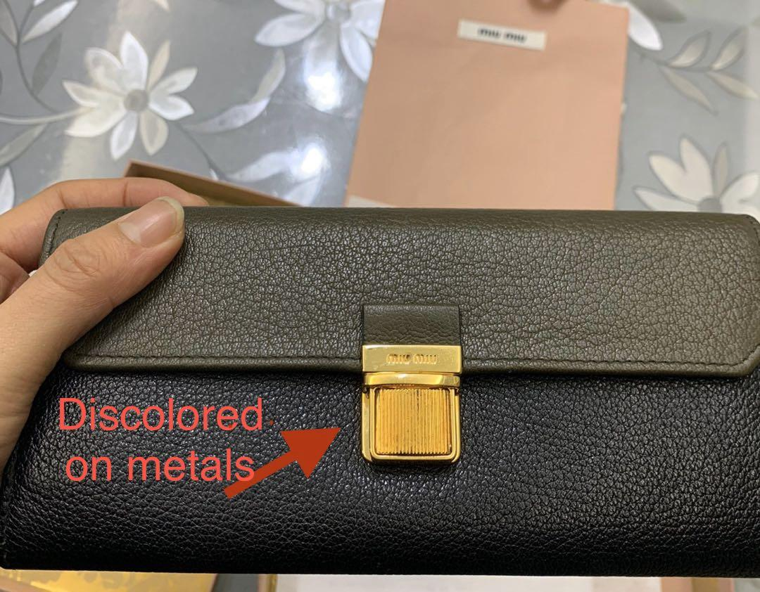 9.5/10 condition, authentic |-85% discount. Miu miu long wallet for men/women, buy in price RMB1380 with employee discount, original price RMB4600 with receipt. ( the owner shopped in China in 2016)
