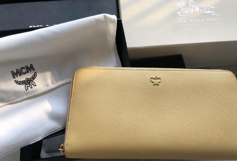 Pre-order,9.5/10 condition, authentic with receipt | -60% discount, MCM yellow long wallet, original price $203 (the owner shopped in Korean Free Shop in 2015