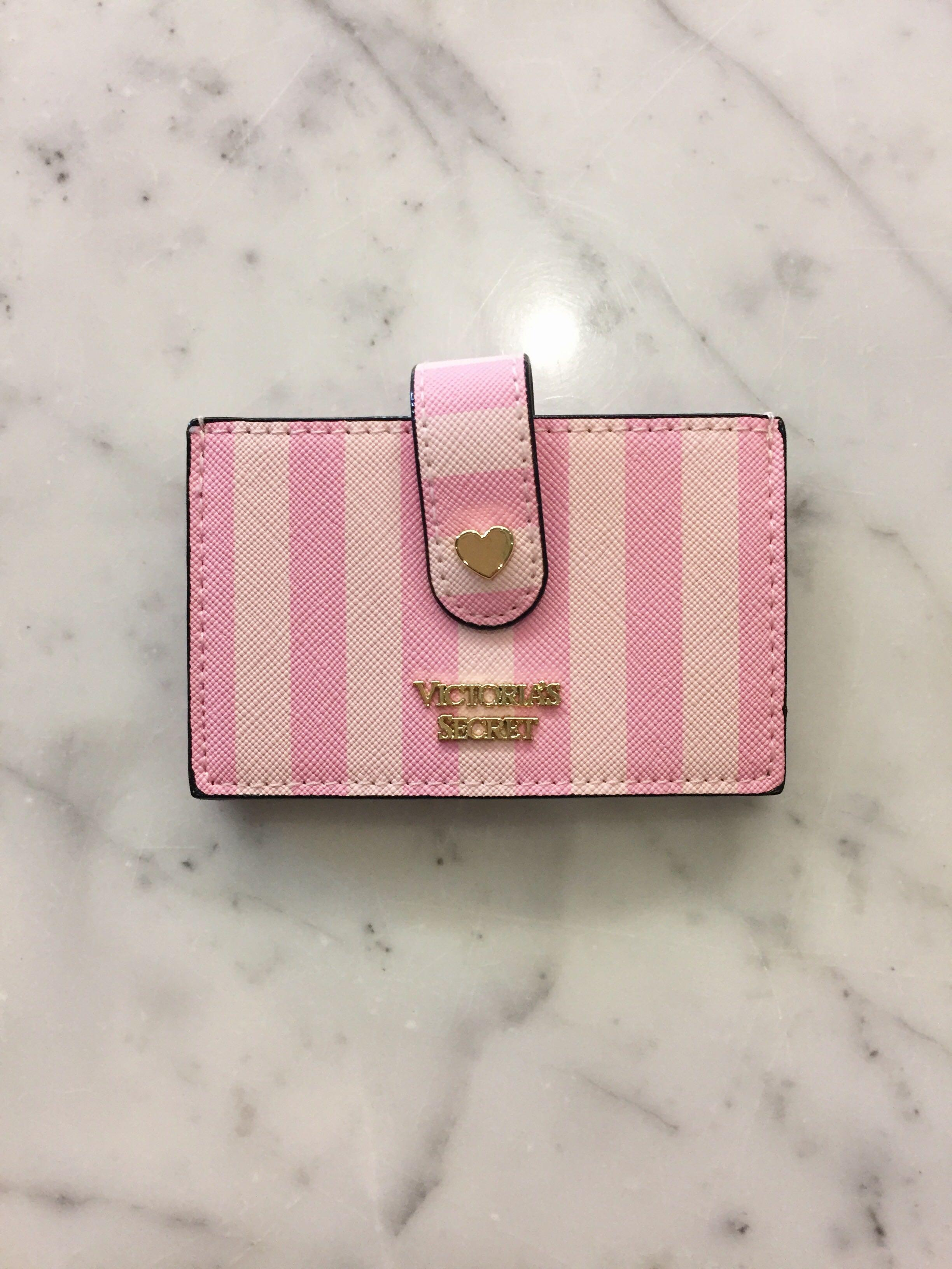 BNWT VICTORIA'S SECRET PINK STRIPED ACCORDION CARD CASE
