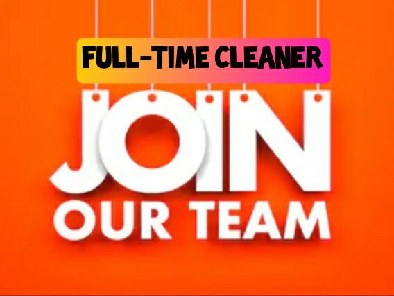 Full-time Cleaner Job