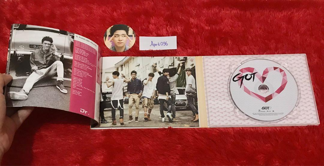 [signed album] GOT7 'got love' signed by all members + youngjae pc / chip