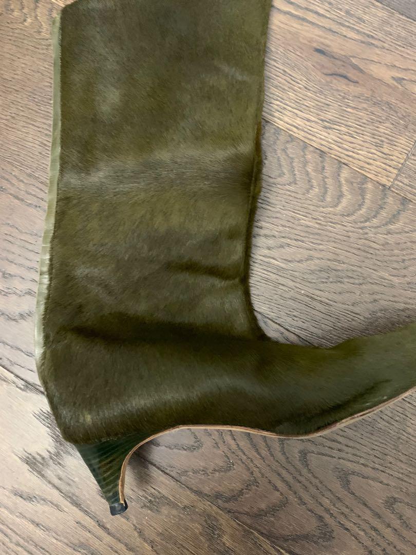 Mahnolo Blahnik Ponyhair Calskin boots (size 37.5)
