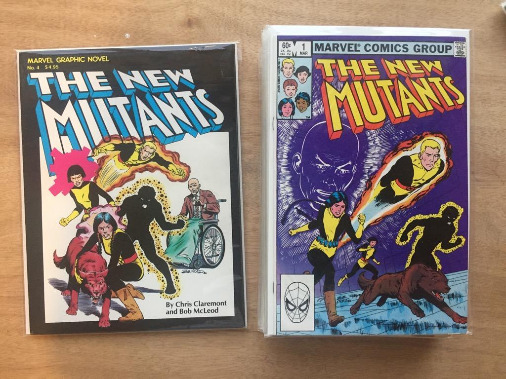 Marvel Graphic Novel 4 + New Mutants 1-10,11,13,15,16 Signed Key Issue comics