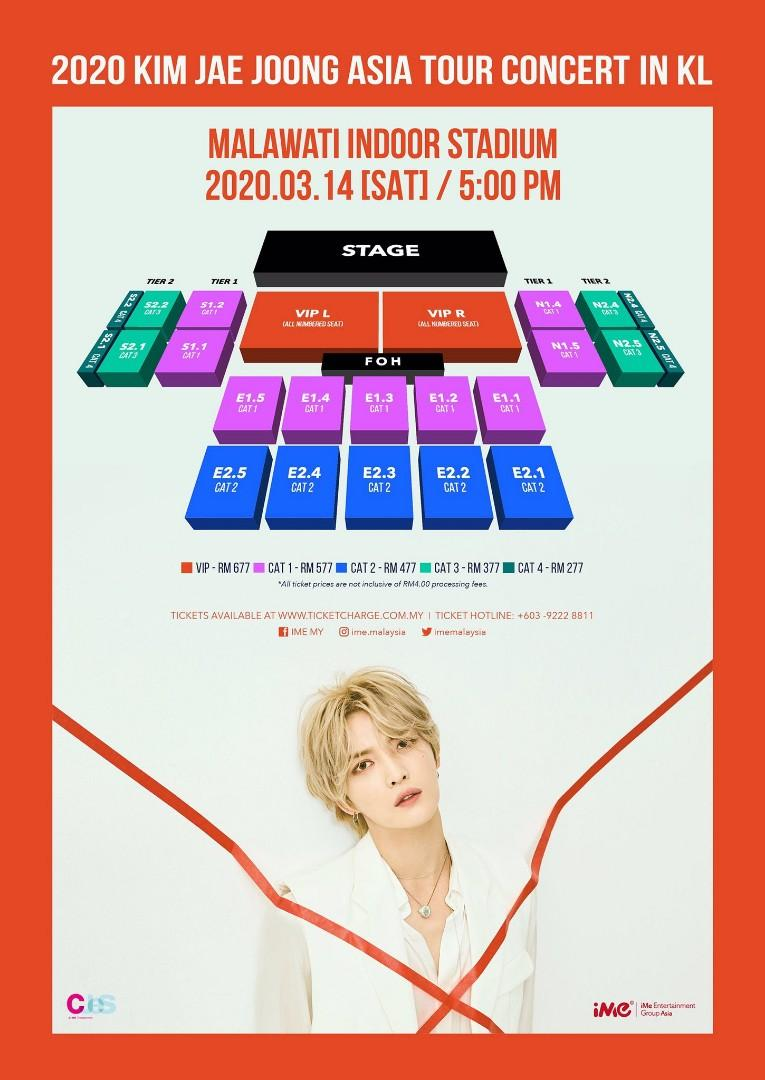 [ONLINE] 2020 Kim Jaejoong Asia Tour Concert in KL Ticketing Service (18/1)