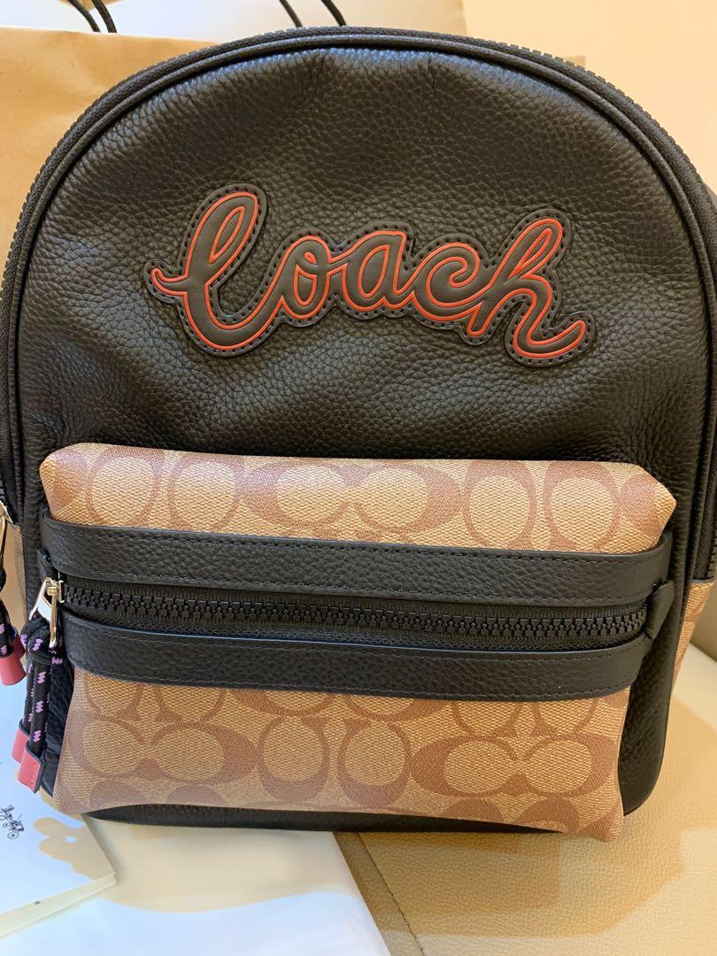 Ready stock unisex coach backpack 6464774647 medium monogram backpack