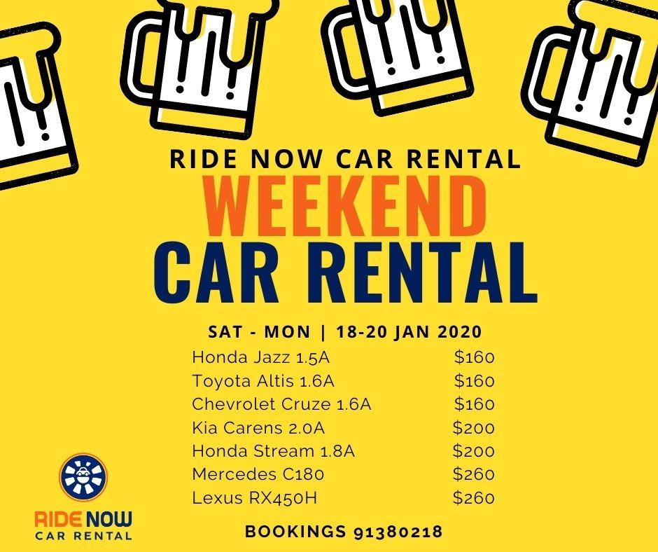 Sat - Mon Weekend Promotion (18-20 Jan) Run your last minute errands for CNY before it's too late!