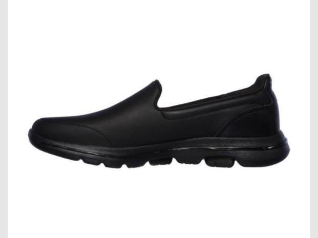 Sketchers GOWALK 5 polished black leather work shoes