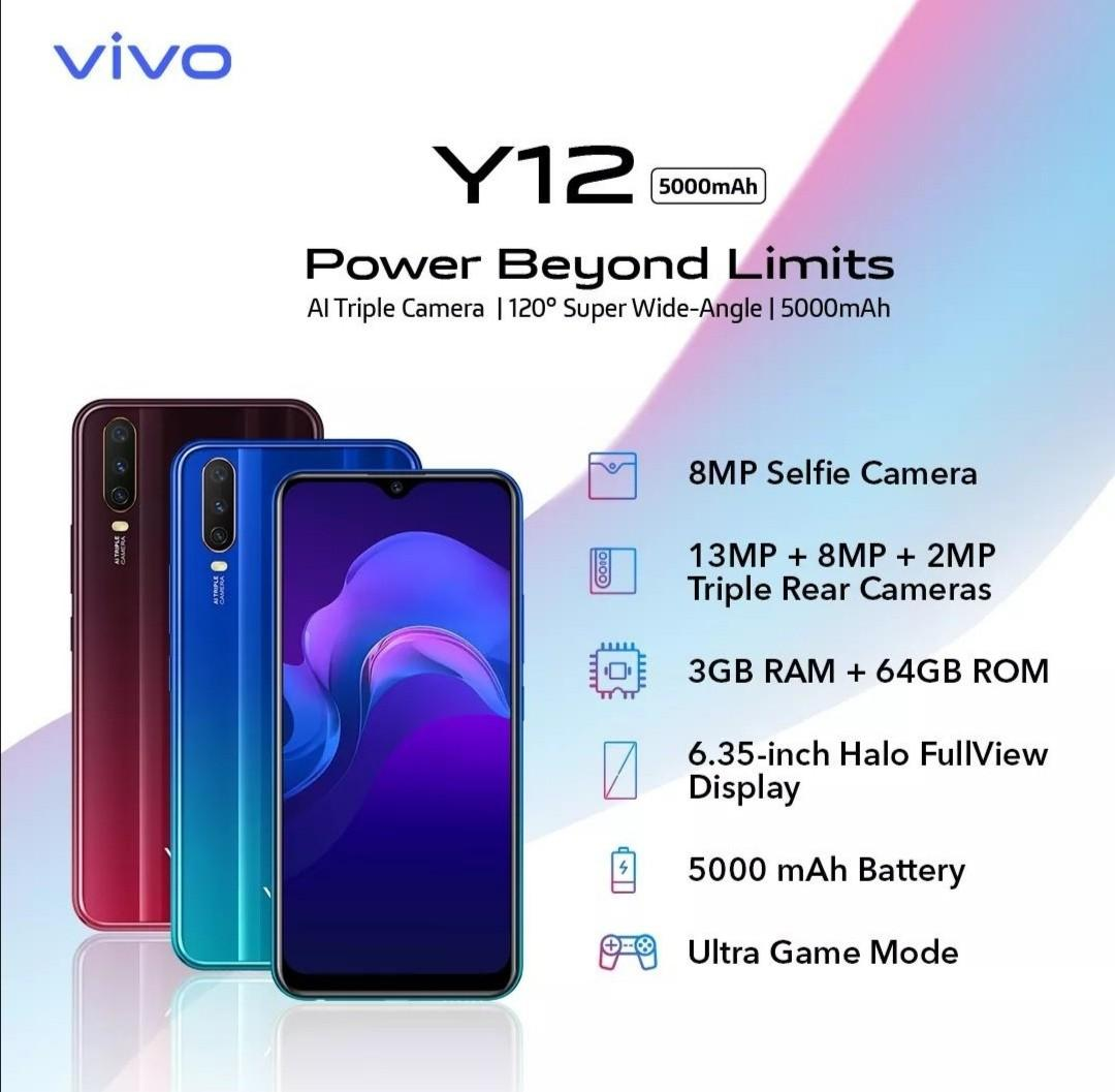 VIVO Y12 64GB/3GB RAM, Mobile Phones & Tablets, Android Phones ...