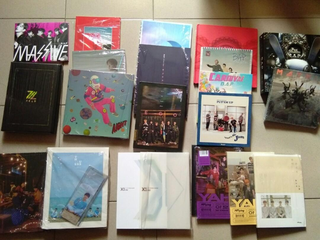 WTS PRELOVED KPOP ALBUM (Chat for price!) - B.A.P DAEHHYUN YOUNGJAE, NFLYING, BTOB, X1