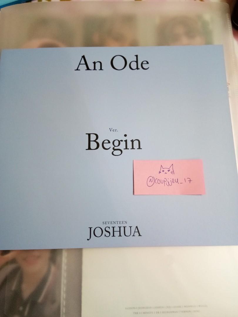 [WTS] Seventeen An Ode Joshua Begin Mini Booklet/Photobook