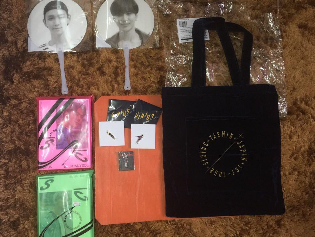 [WTS] SHINee lenticular fans and Taemin SIRIUS bag