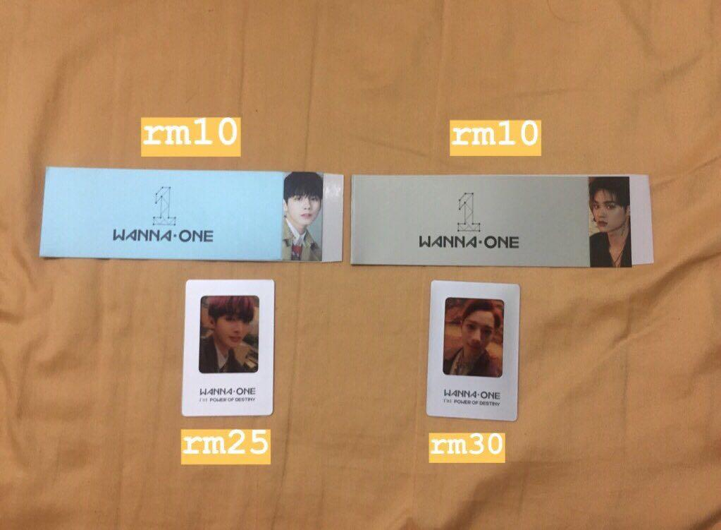 [WTS] wanna one pod photocard album sleeve inclusions
