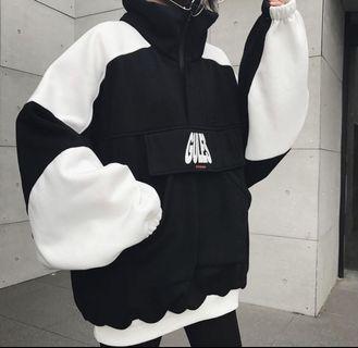 Oversized Korean black and white Sweatshirt