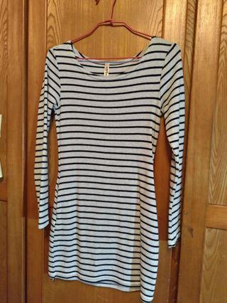 長袖條紋裙(商品狀態保存良好) #換季