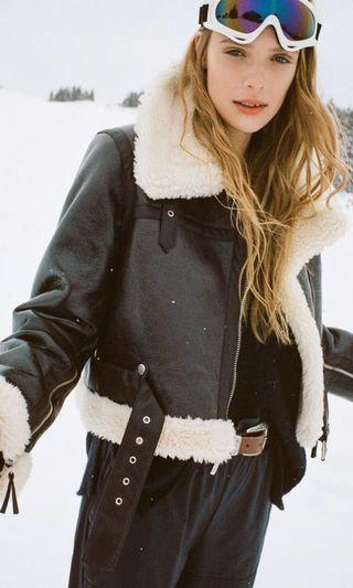Urban Outfitters Sherpa Lined Aviator Jacket
