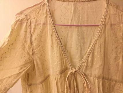 日系 波希米雅風 罩衫