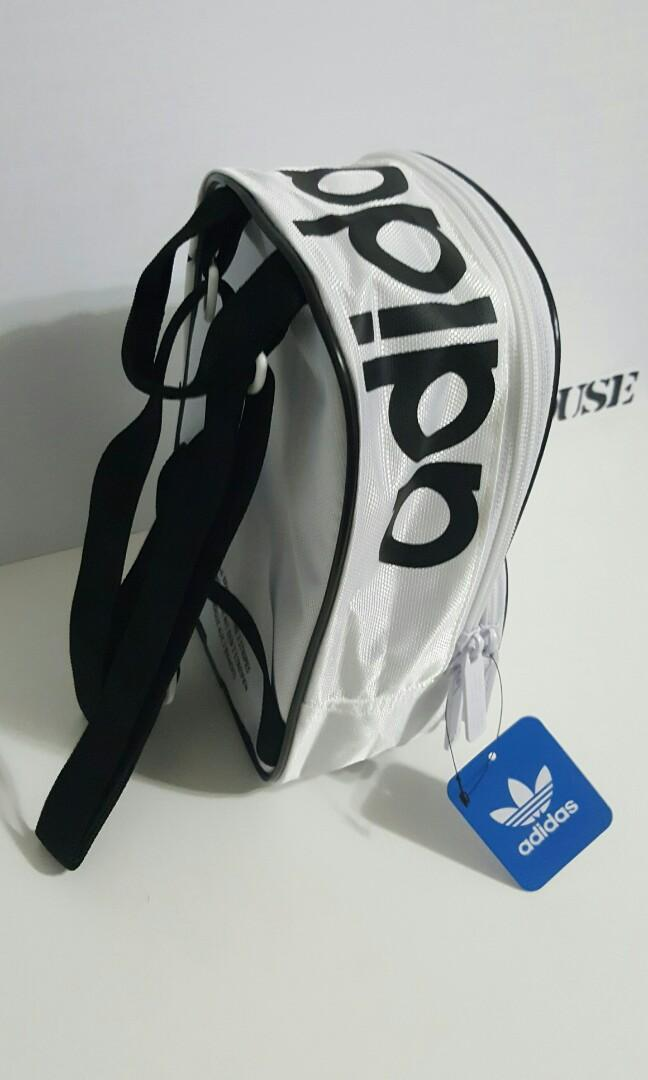ADIDAS MINI BACKPACK - BLACK AND WHITE x 4 bags available