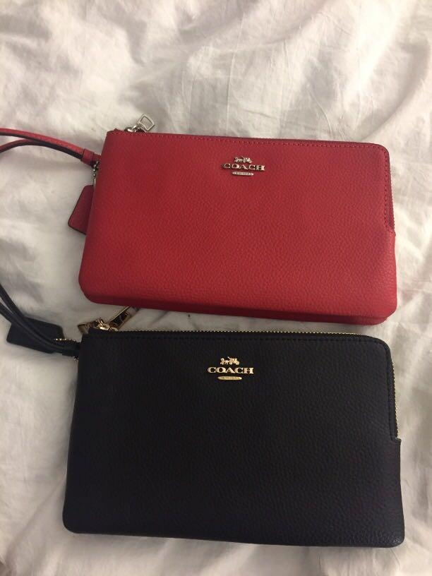 Auth Coach clutch ($40 each or both for $70) - brand new
