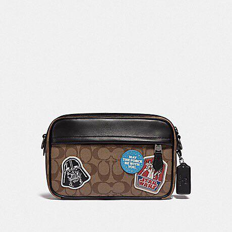 Authentic star wars x coach Graham crossbody in signature canvas with patches