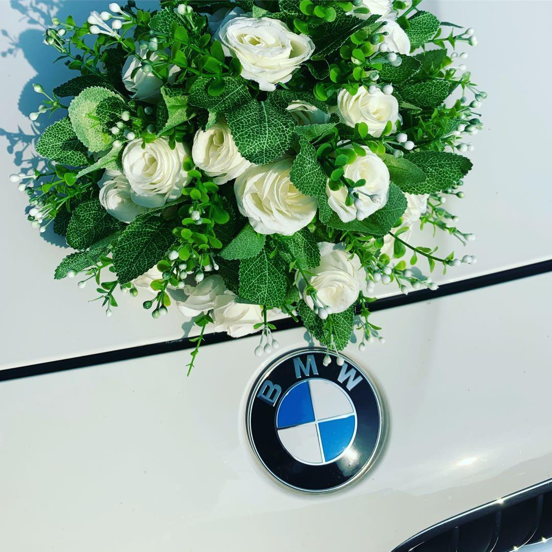 BMW 523i F10 Highline Series (Latest Version) White Color Wedding Limo  宝马 F10 系列. 白色婚车服务