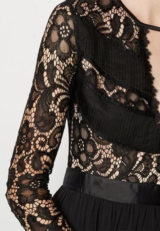 BNWT FAME & PARTNERS BLACK LACED VICTORIA DRESS - SIZE 8 AU/4 US (RRP $400)