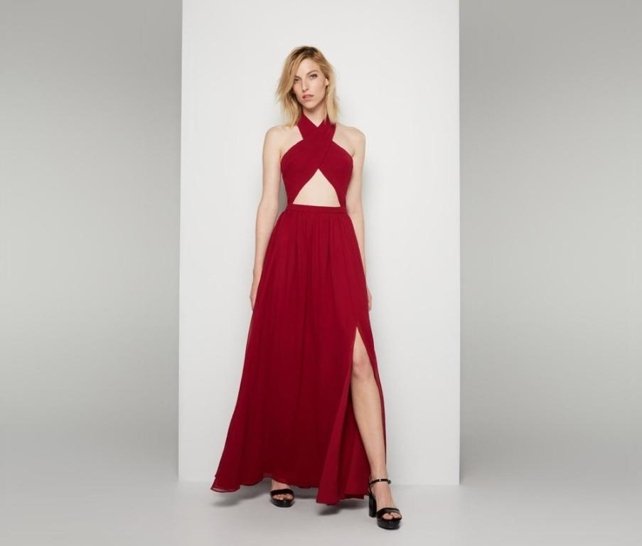 BNWT FAME & PARTNERS BURGUNDY WIRED HEART - SIZE 12 AU/8 US (RRP $299)