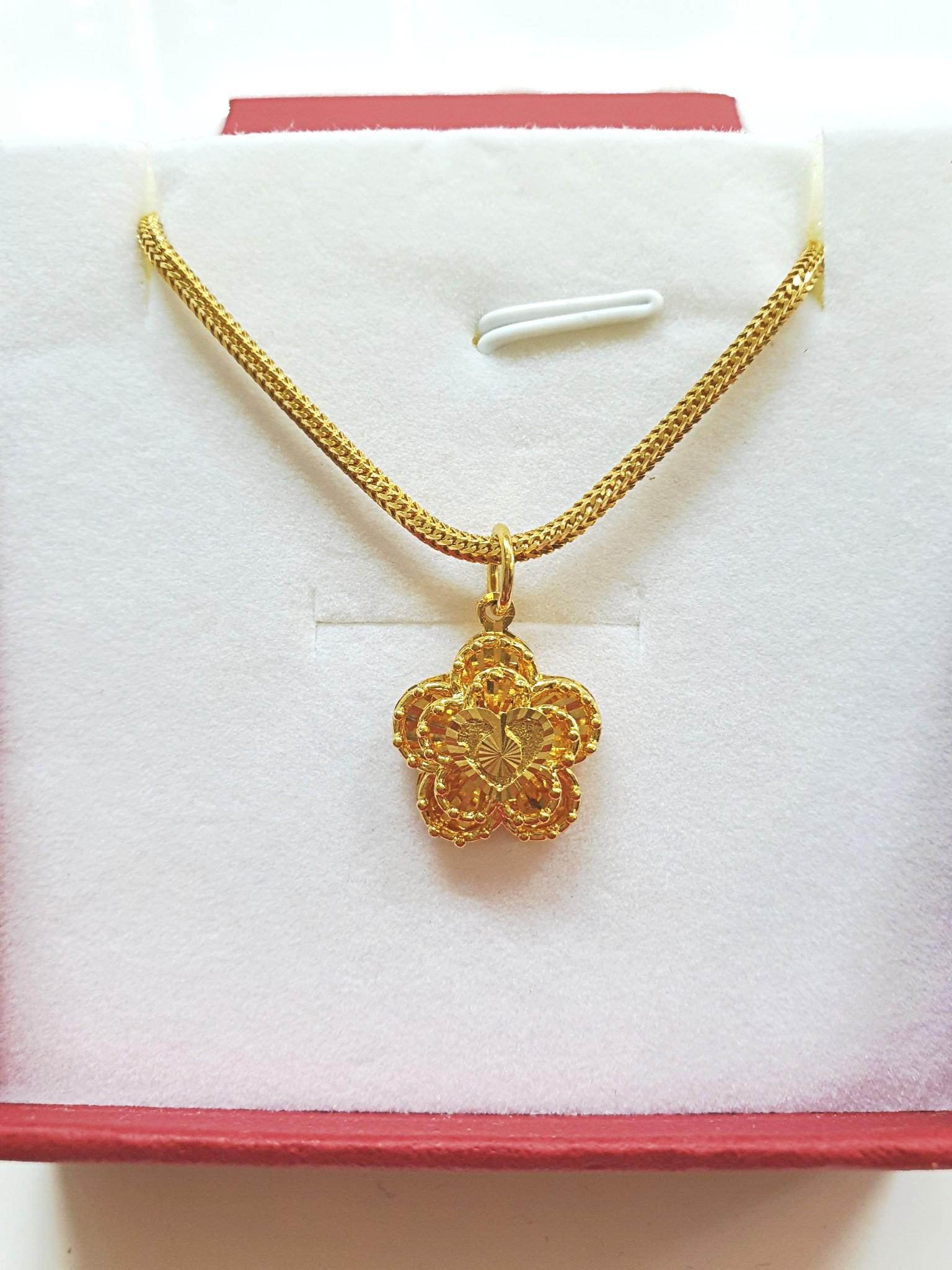 Brand New 100% Authentic 916 Gold Necklace With Pendant {{Only For Sale}} **No Trade** {{Fixed Price}} **定价**