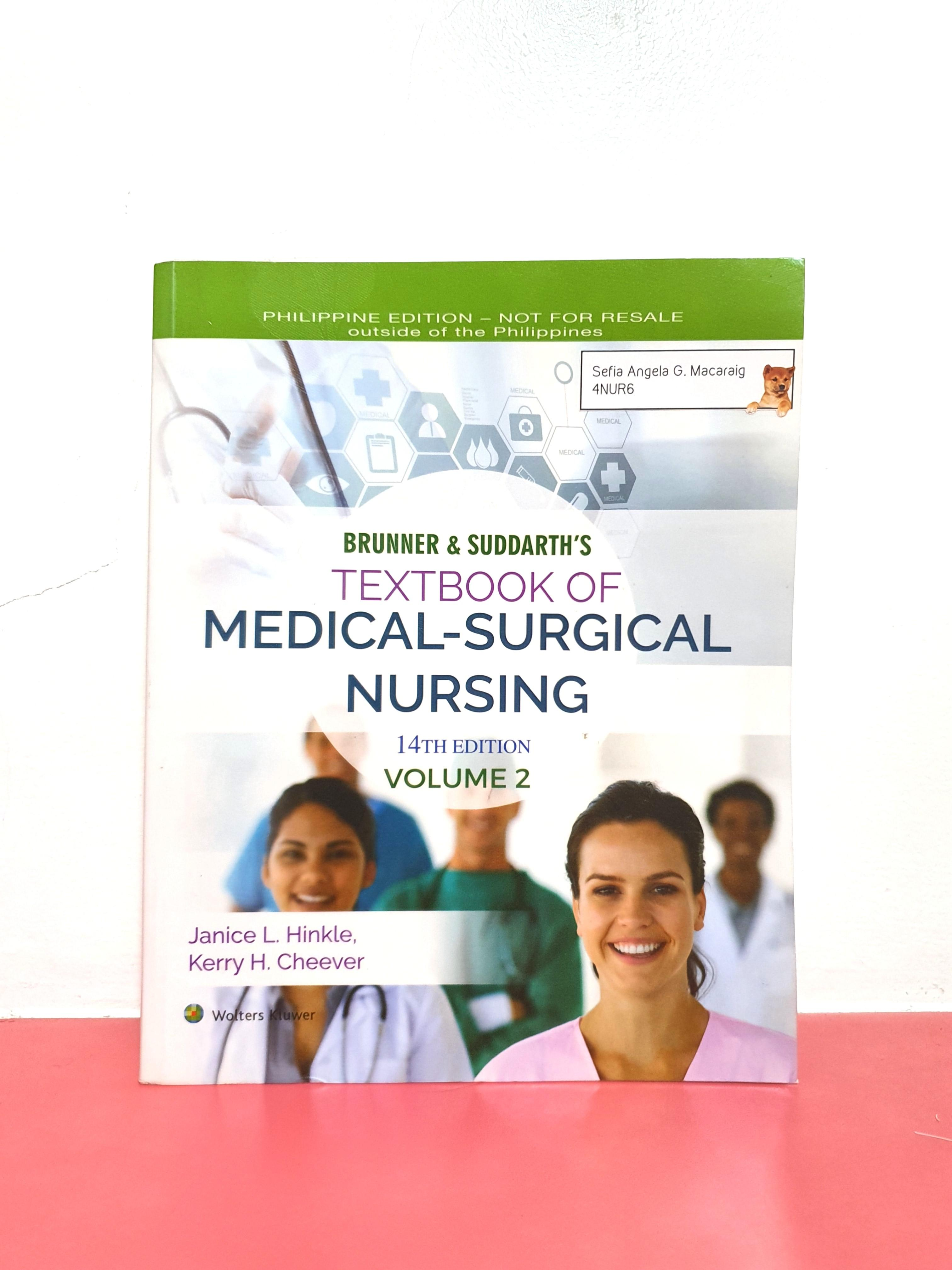 Brunner & Suddarth's Textbook of Medical Surgical Nursing Volume 1-2 (14th ed.)