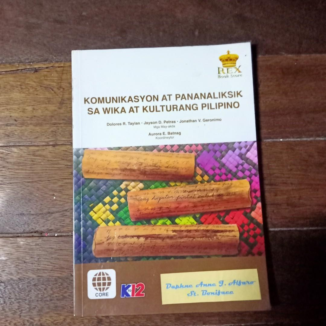 Komunikasyon At Pananaliksik sa Wika at Kulturang Pilipino ( Rex Bookstore )