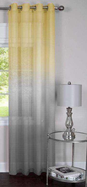 "One Panel Single Grommet Window Curtain Panel (52"" x 84"")"
