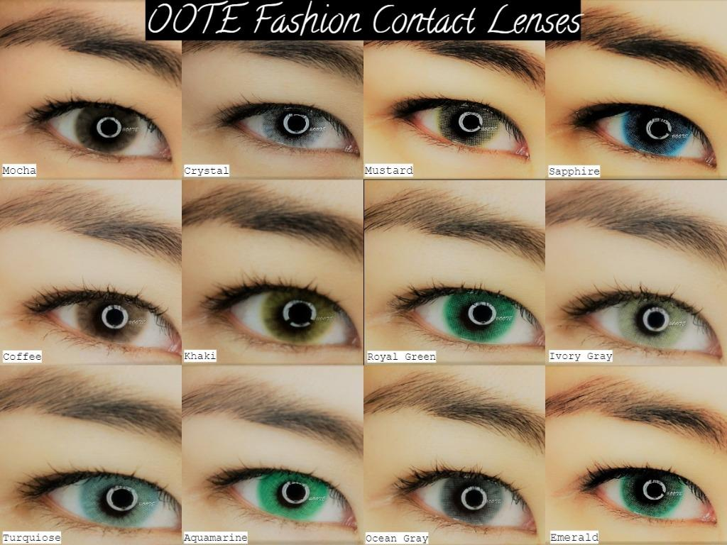 OOTE Fashion Soft Hydrophilic Contact Lenses (1 year) - (Grade: 0.00)