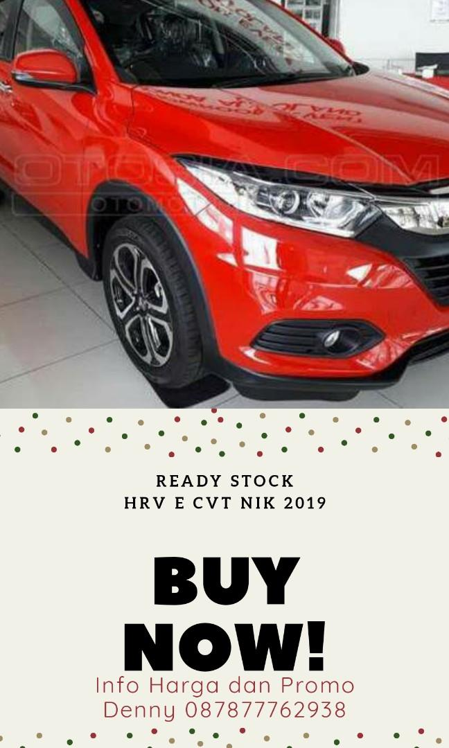 READY STOCK HRV E CVT MERAH NIK 2019 !! SISA 1 UNIT