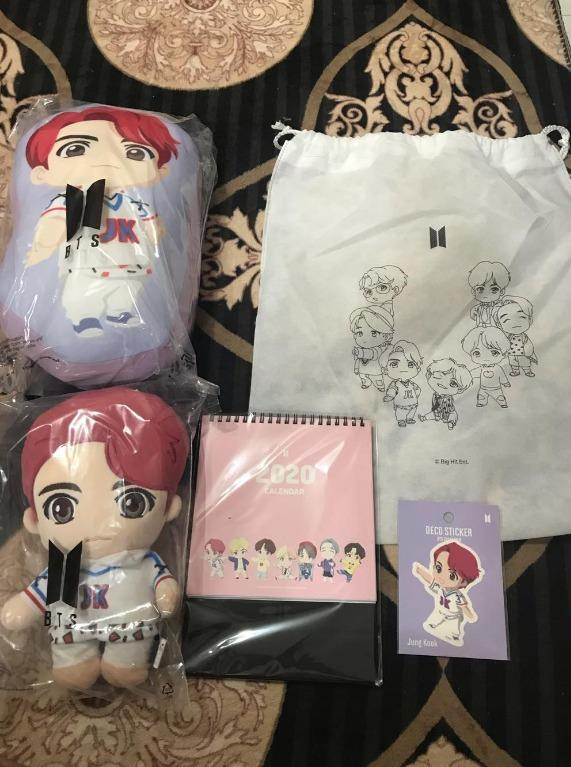[READY STOCK] OFFICIAL BTS JUNGKOOK CHARACTER HOLIDAY GIFT PACK (LOOSE SET)