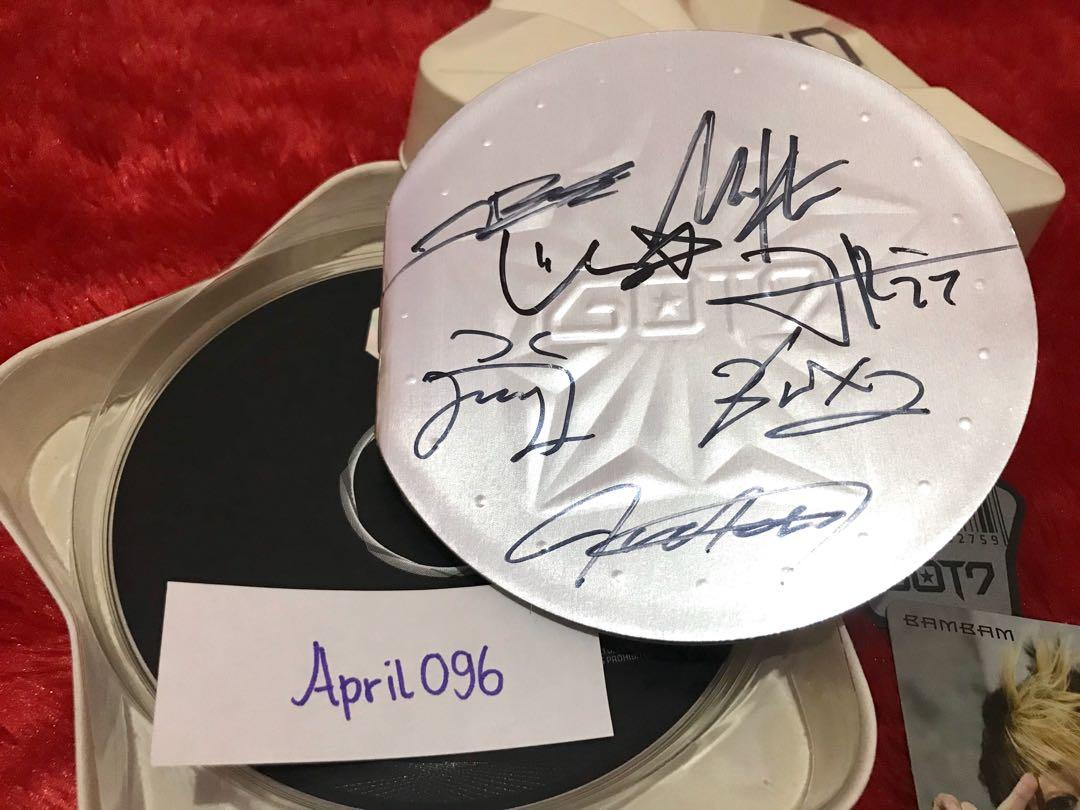 [signed album] GOT7 1st mini album 'got it' signed by all members + bambam pc